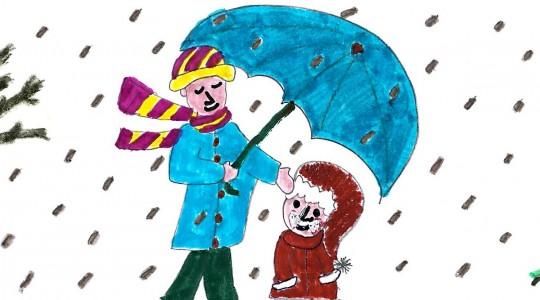 Ζωγραφιές της Στ1 για τον Χειμώνα